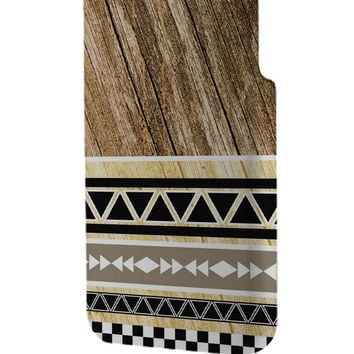 Best 3D Full Wrap Phone Case - Hard (PC) Cover with Wood Print Geometric Unique Design