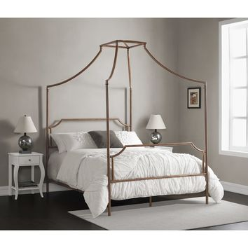 The Curated Nomad Flatiron Brushed Dark Copper Full-size Canopy Bed | Overstock.com Shopping - The Best Deals on Beds
