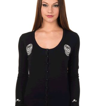 BLACK MAGIC SKULL CARDIGAN by Banned Apparel.