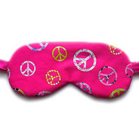 100% Organic Cotton Sleep Mask USA Made Blindfold Eye Shade Girls Kids Ladies