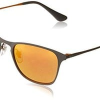 Ray-Ban Kids' Metal Unisex Square Sunglasses