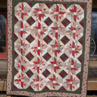 French General Star Full Bed Quilt    FREE SHIPPING