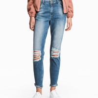 Boyfriend Low Trashed Jeans - from H&M