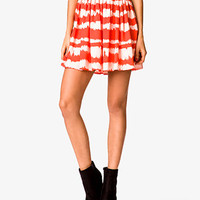 Shirred Tie-Dye Skirt | FOREVER 21 - 2024099467