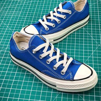 PEAP2Q Converse Chuck Taylor All Star 1970s Blue Low Canvas Shoes