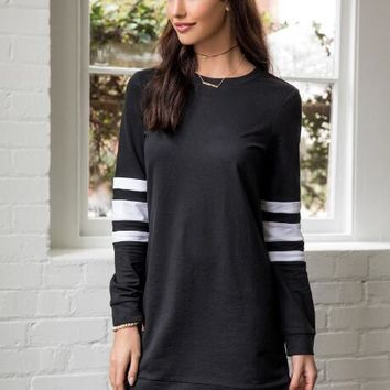 Eva Striped Sweatshirt Dress