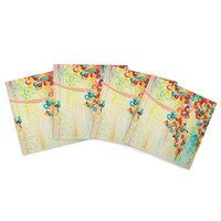 "Ebi Emporium ""Summer in Bloom"" Indoor/Outdoor Place Mat (Set of 4)"