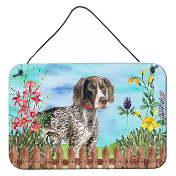 German Shorthaired Pointer Spring Wall or Door Hanging Prints CK1203DS812