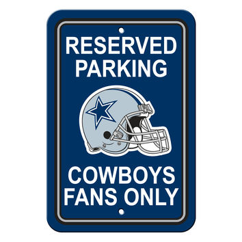 Dallas Cowboys Plastic Parking Sign - Reserved Parking