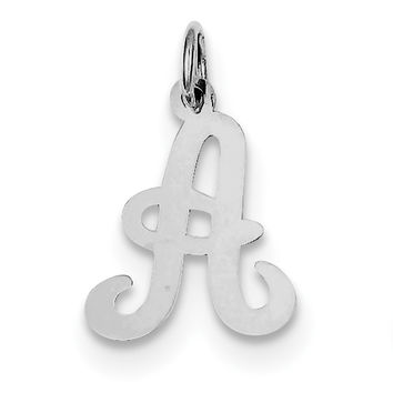 Sterling Silver Stamped Initial A Charm QC4163A