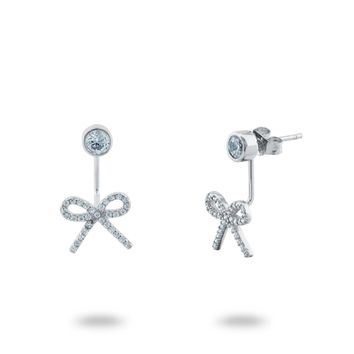 Bow and Rock Two Piece Earrings