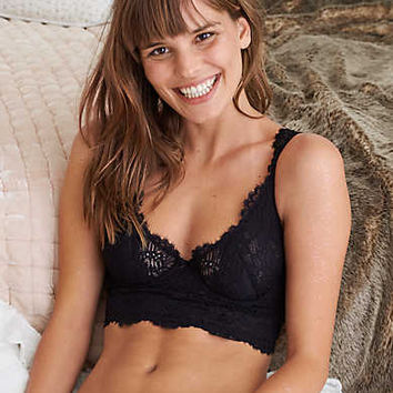 Aerie Real Obsessed™ Unlined Bra, True Black