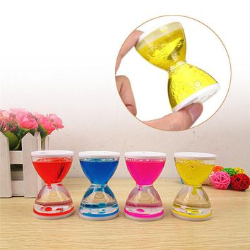Creative Moving Oil Droplets Sand Hourglass Crafts Sandglass Timer Clock Office Bedroom Home Decor