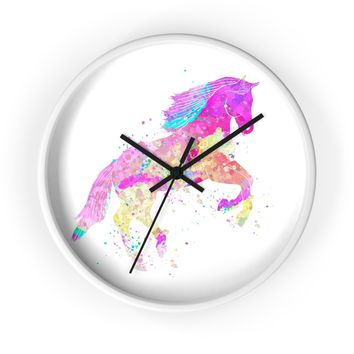 Watercolor Horse Wall Clock