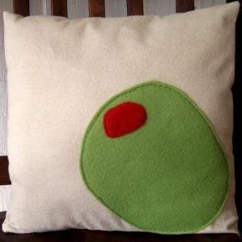 olive juice modern pillow by pillowhappy on Etsy