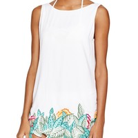 Mara HoffmanLeaf-Embroidered Dress Swim Cover Up