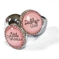 Butt plugs for DDLG. Pink diamante custom plugs with Daddy's girl or little princess! MATURE