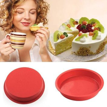 ICIK272 8 Inches Non-stick Silicone Cake Pans / Pie Bread Loaf Baking Dishes / Cake Mold Bakeware Tools For Microwave And Oven