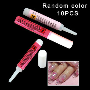 10 x 2g Nail Gel Mini ProfessionaL Beauty Nail False Art Decorate Tips Acrylic Glue