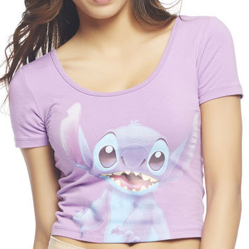 Lilo & Stitch Crop Tee | Wet Seal