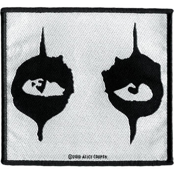 Alice Cooper Men's The Eyes Woven Patch Black