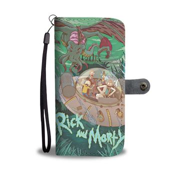 KUYOU Chased By Cthulu Rick And Morty Wallet Phone Case