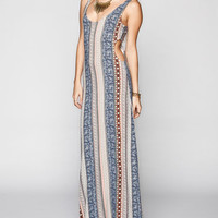 H.I.P. Boho Cut Out Slip Dress Multi  In Sizes