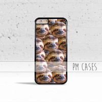 Trippy Sloth Heads Case Cover for Apple iPhone 4 4s 5 5s 5c 6 6s SE Plus & iPod Touch