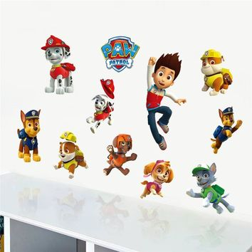 Kids Cartoon Movie Clever Police Dog Wall Stickers