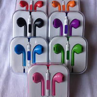 NEW COLORS EARPODS BLUE PINK RED GREEN BLACK for all apple products W/3.5mm