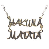 Hakuna Matata™ Pendant Necklace | Wet Seal