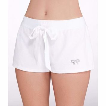Blue by Betsey Johnson Bridal Terry Shorts 7301109 White Large
