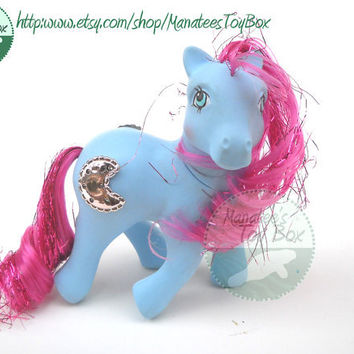 Vintage My Little Pony Princess Royal Blue 80s Toy