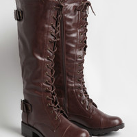Sandra Lace-Up Boots