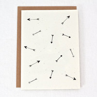 Every Which Way - Arrows Blank Folded Note Card - Set of 6