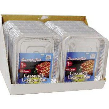 Aluminum Casserole Lasagna Pan with Lid - 36 Pack Case Pack 36