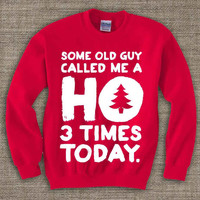 ho3 ,Ugly Chistmas Sweater. Holiday Sweatshirt. Holiday Shirt. Christmas Swetshirt.