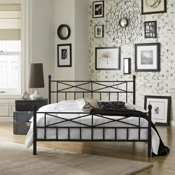 Premier Christel Full Metal Platform Bed Frame, Black - Walmart.com