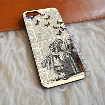 Alice and Butterfly iPhone 5 | 5S | SE Case