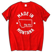 """Made in Montana"" T-Shirt black men t shirt fashion present for boy man farther top tees"