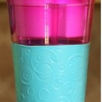 Snackeez As Seen on Tv Travel Cup Snack Drink in One Container Lid Straw Kids **Pink/blue**color:Amazon:Kitchen & Dining