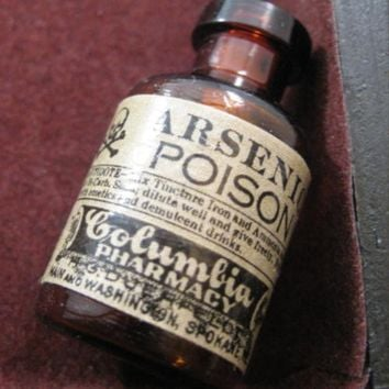Reproduction arsenic miniature glass poison bottle pendant charm