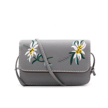 Embroidery Crossbody Bags For Women Small Floral Women Messenger Bags Ladies Luxury Brand Shoulder Bag Sac A Main