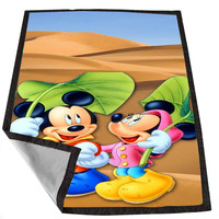 mickey and minie mouse 3 for Kids Blanket, Fleece Blanket Cute and Awesome Blanket for your bedding, Blanket fleece *02*