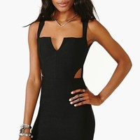 Covert Cutout Dress - Black