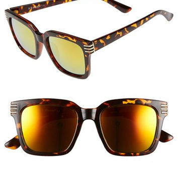 Women's A.J. Morgan 'Crux' 50mm Sunglasses - Tortoise/ Gold Mirror Lense