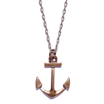 Bronze Anchor Necklace for Men.