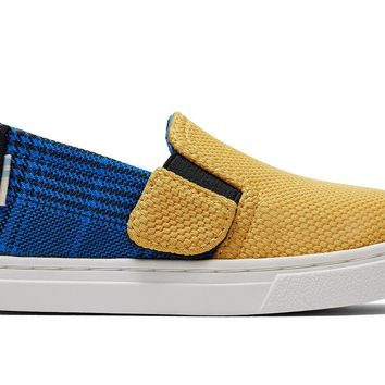 TOMS - Tiny Toms Luca Butternut Sport Knit Plaid Slip-Ons