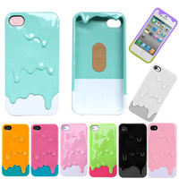 3D Melt Ice-Cream Skin Protect Hard Case Cover For Apple iPhone 4 4S 5 5G 9color