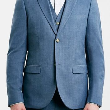 Men's Topman Blue Skinny Fit Suit Jacket